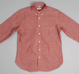 The Hill-Side - Selvedge Chambray Long Sleeve Standard Shirt, Red - SH1-003 - image 3