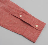 The Hill-Side - Selvedge Chambray Long Sleeve Standard Shirt, Red - SH1-003 - image 8