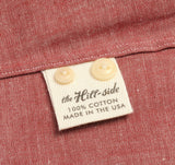 The Hill-Side - Selvedge Chambray Long Sleeve Standard Shirt, Red - SH1-003 - image 9