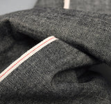 The Hill-Side - Selvedge Chambray Small Scarf, Black - SC2-002