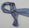 The Hill-Side - Selvedge Chambray Small Scarf, Indigo - SC2-001 - image 1