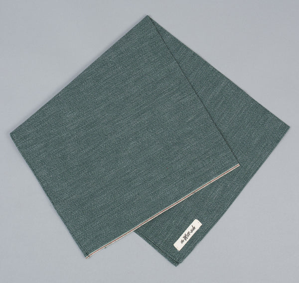 The Hill-Side - Selvedge Covert Chambray Bandana, Green - BA1-290 - image 2