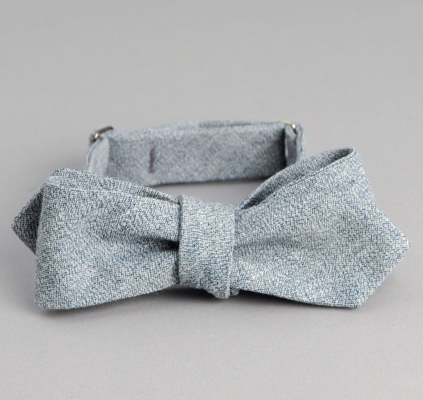 The Hill-Side - Selvedge Covert Chambray Bow Tie, Light Indigo - BT1-288 - image 1