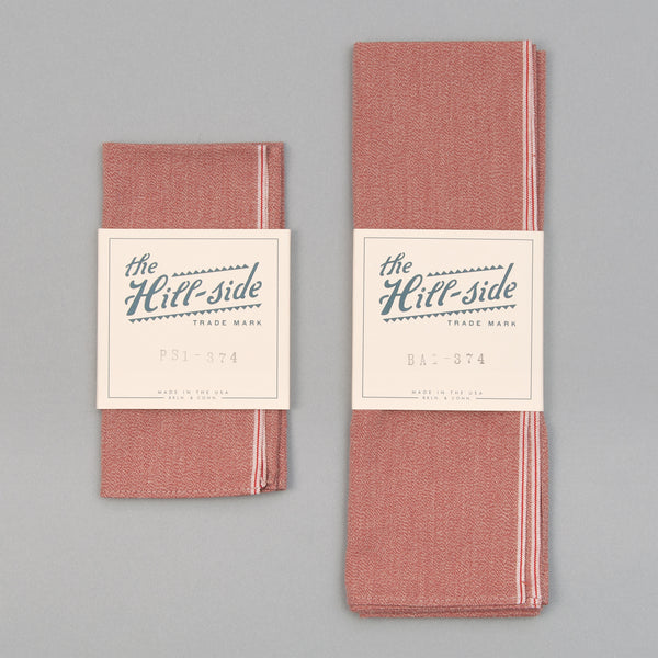 The Hill-Side - Selvedge Covert Chambray Pocket Square, Terracotta - PS1-374 - image 2