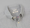 The Hill-Side - Selvedge Covert Gingham Chambray Long Sleeve Standard Shirt, Indigo / White - SH1-329 - image 1