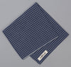 The Hill-Side Selvedge Covert Gingham Chambray Pocket Square, Indigo / Indigo