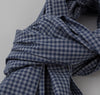 The Hill-Side - Selvedge Covert Gingham Chambray Scarf, Indigo / Indigo - SC1-330 - image 3