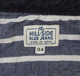 The Hill-Side - Selvedge Denim Blue Jeans w/ Mismatched Fabric Pocket Bags - JE1-280B - image 11