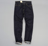 The Hill-Side - Selvedge Denim Blue Jeans w/ Mismatched Fabric Pocket Bags - JE1-280B - image 2