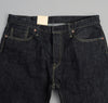 The Hill-Side - Selvedge Denim Blue Jeans w/ Mismatched Fabric Pocket Bags - JE1-280B - image 3