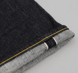 The Hill-Side - Selvedge Denim Blue Jeans w/ Mismatched Fabric Pocket Bags - JE1-280B - image 5
