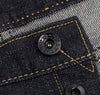 The Hill-Side - Selvedge Denim Blue Jeans w/ Mismatched Fabric Pocket Bags - JE1-280B - image 7