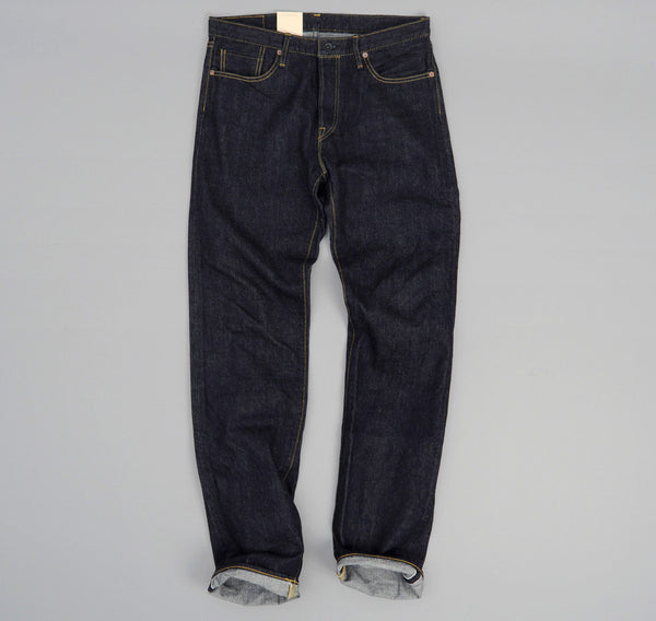 The Hill-Side - Selvedge Denim Blue Jeans w/ Olive HBT Pocket Bags - JE1-280A - image 2