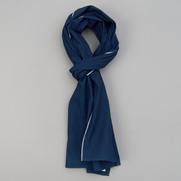 The Hill-Side - Selvedge Double Indigo Oxford Scarf - SC1-327 - image 1