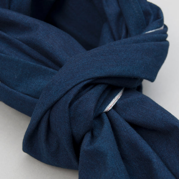 The Hill-Side - Selvedge Double Indigo Oxford Scarf - SC1-327 - image 2