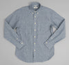 The Hill-Side - Selvedge Double Stripe Chambray Button-Down Shirt, Indigo - SH1-005 - image 1