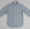 The Hill-Side - Selvedge Double Stripe Chambray Button-Down Shirt, Indigo - SH1-005 - image 2