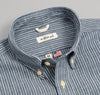 The Hill-Side - Selvedge Double Stripe Chambray Button-Down Shirt, Indigo - SH1-005 - image 4