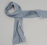 The Hill-Side - Selvedge Double Stripe Chambray Small Scarf, Indigo - SC2-005 - image 1
