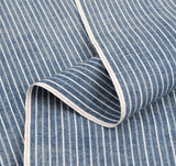 The Hill-Side - Selvedge Double Stripe Chambray Small Scarf, Indigo - SC2-005 - image 3