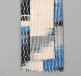 The Hill-Side - Selvedge Guatemalan Hand-Woven Banded Ikat Tie, Blue - S57-094A - image 3