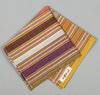 The Hill-Side - Selvedge Guatemalan Hand-Woven Pocket Square, Green / Purple / Tan Multi-Stripe - S13-081 - image 2