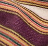 The Hill-Side - Selvedge Guatemalan Hand-Woven Pocket Square, Green / Purple / Tan Multi-Stripe - S13-081 - image 3