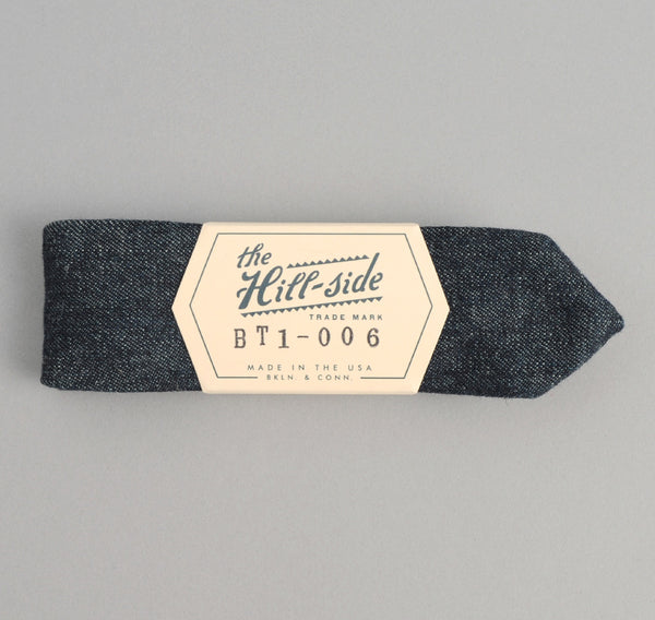 The Hill-Side - Selvedge Hemp Denim Bow Tie, Indigo - BT1-006 - image 2