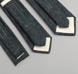 The Hill-Side - Selvedge Hemp Denim Necktie, Indigo - ST1-006 - image 4