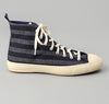 The Hill-Side - Selvedge Indigo Covert Stripe High Top Sneakers - SN4-175 - image 3