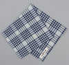 The Hill-Side Selvedge Indigo Madras 5x5 Plaid Pocket Square, Natural / Indigo