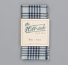 The Hill-Side - Selvedge Indigo Madras 5x5 Plaid Pocket Square, Natural / Indigo - PS1-335 - image 2