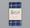The Hill-Side - Selvedge Indigo Madras Large Check Pocket Square, Indigo Base - PS1-334 - image 2