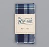 The Hill-Side - Selvedge Indigo Madras Large Check Pocket Square, Natural Base - PS1-333 - image 2