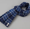 The Hill-Side - Selvedge Indigo Madras Large Check Scarf, Indigo Base - SC1-334 - image 1