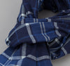 The Hill-Side - Selvedge Indigo Madras Large Check Scarf, Indigo Base - SC1-334 - image 3