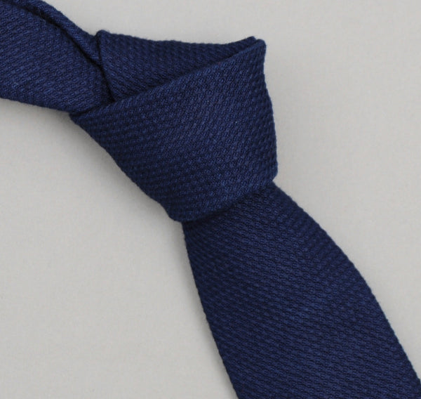 The Hill-Side - Selvedge Lightweight Indigo Sashiko Necktie - PT1-244 - image 1