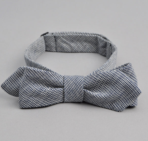 The Hill-Side - Selvedge Mini-Houndstooth Bow Tie, Indigo - BT1-257 - image 1