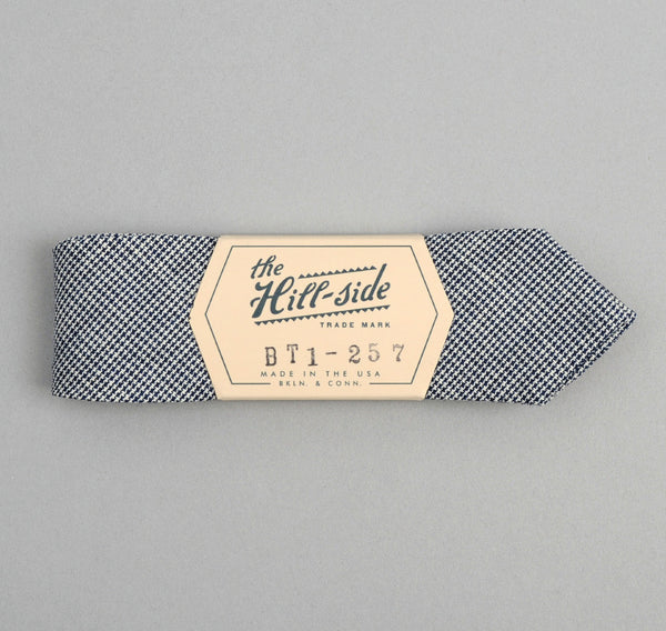 The Hill-Side - Selvedge Mini-Houndstooth Bow Tie, Indigo - BT1-257 - image 2