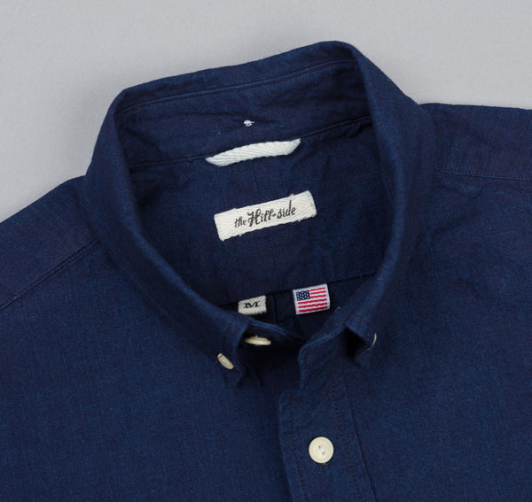 The Hill-Side - Selvedge Oxford Long Sleeve Standard Shirt, Double Indigo - SH1-327 - image 1