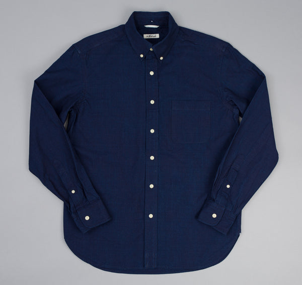 The Hill-Side - Selvedge Oxford Long Sleeve Standard Shirt, Double Indigo - SH1-327 - image 2