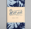 The Hill-Side Selvedge Palm Leaves Half-Discharge Print Small Scarf, Indigo