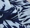 The Hill-Side - Selvedge Palm Leaves Half-Discharge Print Small Scarf, Indigo - S56-096 - image 3