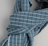 The Hill-Side - Selvedge Square Check Chambray Scarf, Indigo / White - SC1-293 - image 3