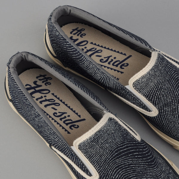 "The Hill-Side - Slip-On, ""Fingerprint"" Indigo Jacquard - SN5-460"