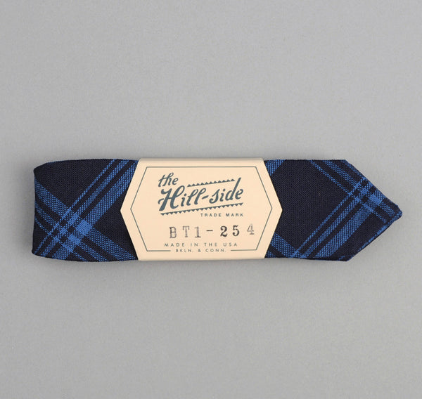 The Hill-Side - Small Check Oxford Bow Tie, Indigo - BT1-254 - image 2