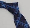 The Hill-Side - Small Check Oxford Necktie, Indigo - ST1-254 - image 1