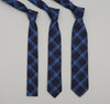 The Hill-Side - Small Check Oxford Necktie, Indigo - ST1-254 - image 2