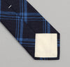The Hill-Side - Small Check Oxford Necktie, Indigo - ST1-254 - image 3