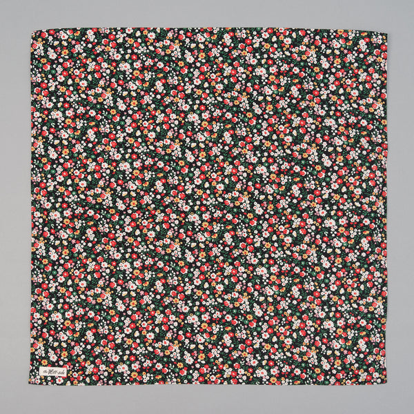 The Hill-Side - Small Flowers Print Bandana, Black - BA1-451 - image 2